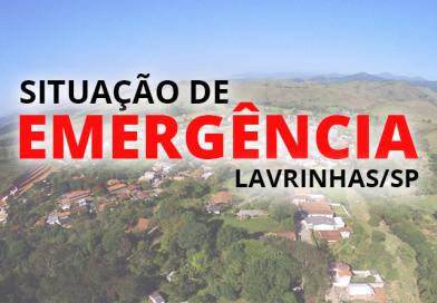 Lavrinhas decreta situação de emergência