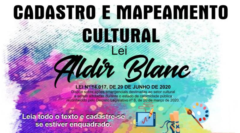 PRORROGADO ATÉ 14/08 Secretaria de Turismo e Cultura inicia cadastro para auxílio emergencial da Lei Aldir Blanc