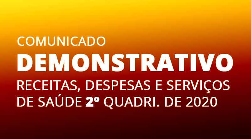 DEMONSTRATIVO FISCAL SAÚDE 2ª QUAD. 2020