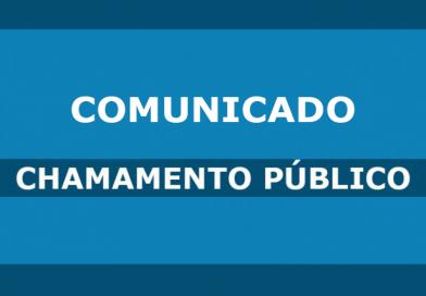 Comunicado – Chamamento Público 01/2021